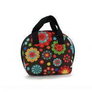 Lunch bag Flower Power 25x32cm Smart Lunch Smartsoft Rubber czarno-kolorowa