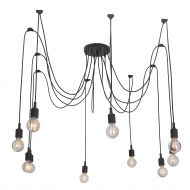 Lampa wisząca 60x40x40 cm Light Prestige Soleto czarna