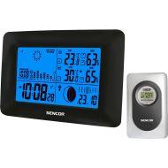 Stacja pogodowa z bezprzewodowym czujnikiem mierzącym temperaturę i wilgotność Sencor SWS 65