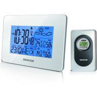 Stacja pogody z czujnikiem bezprzewodowym pomiaru temperatury i wilgotności Sencor SWS 51 W