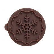 Stempel drewniany do ciastek Śnieżynka Birkmann brązowy
