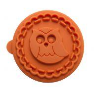 Stempel drewniany do ciastek Sowa Birkmann Owls pomarańczowy