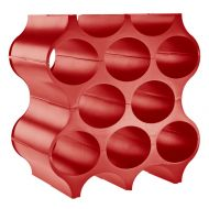 Stojak na butelki Koziol Set-up czerwony