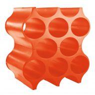 Stojak na butelki Koziol Set-up pomarańczowo-czerwony