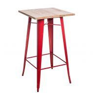 Stolik barowy 60x106cm D2 Paris Wood jesion/czerwony