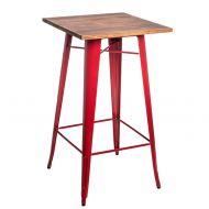 Stolik barowy 60x106cm D2 Paris Wood sosna/czerwony