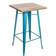 Stolik barowy 60x106cm D2 Paris Wood jesion/niebieski