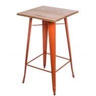 Stolik barowy 60x106cm D2 Paris Wood jesion/pomarańczowy