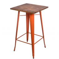 Stolik barowy 60x106cm D2 Paris Wood sosna/pomarańczowy