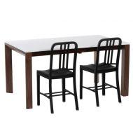 Stół rozkładany Camello 150/200 biały mat, nogi orzech amerykański