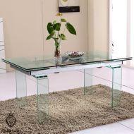 Stół szklany 140/200 King Bath Innovation przezroczysty