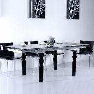 Stół rozkładany do jadalni200/150/300x100x76cm King Bath Vendome szklany