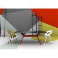 Stół 74x120x80cm D2 Vela czerwona podstawa