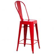 Stołek barowy D2 ParisBack czerwony