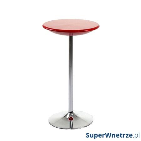 Stolik barowy UNIQUE Round czerwony 3-04-2