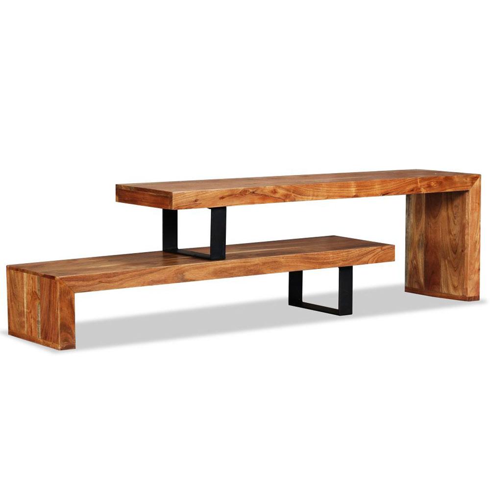 Stolik pod telewizor, lite drewno akacjowe