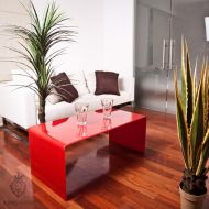 Stolik szklany King Bath Priam A 10 mm czerwony
