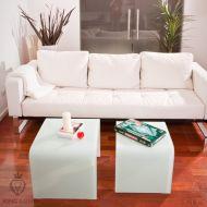 Stolik szklany King Bath Priam Duo biały