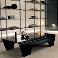 Stolik kawowy 120x60x37cm King Bath Ricco szkło czarny