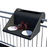 Stolik z pojemnikiem na balkon Balkonzept Rephorm grafitowy