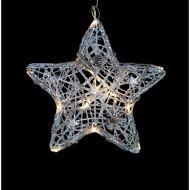 świecąca gwiazda, 16 LED, śred. 25 cm