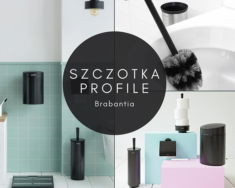 czarna szczotka do wc brabantia profile