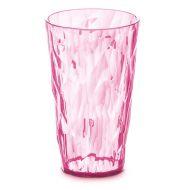 Szklanka na zimne napoje 450ml Koziol Crystal 2.0 pastelowy róż