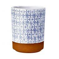 Szklanka z nadrukiem 7,5cm Ladelle Tapas niebiesko-biała