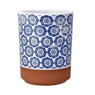 Szklanka z nadrukiem 7,5cm Ladelle Tapas biało-niebieska