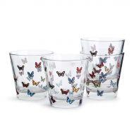 szklanki Butterfly kolorowe, 4 szt. 200 ml