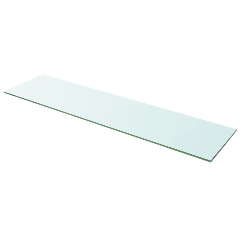 Szklany, bezbarwny panel, 100x25 cm