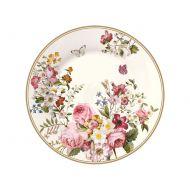 Talerz deserowy 19cm Nuova R2S Blooming Opulence biały
