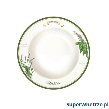 Talerz na zupę 21,5 cm Nuova R2S Cuisine Maison 943 HERB
