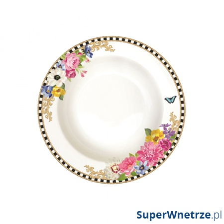Talerz na zupę 21,5 cm Nuova R2S Flowers Glamour 943 GLUR