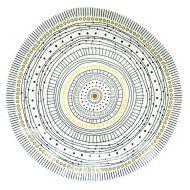 Talerz płytki 26 cm Nuova R2S Organic żółty