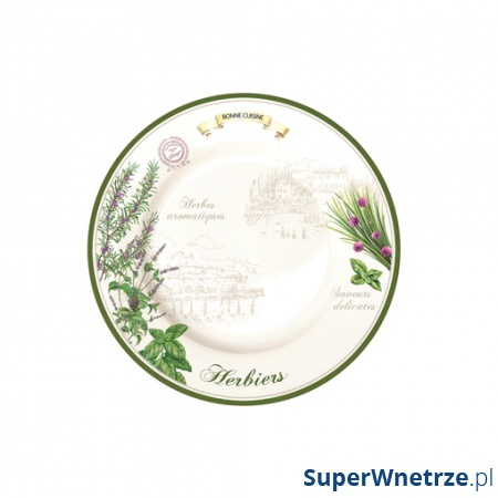Talerz płytki 26,5 cm Nuova R2S Cuisine Maison 942 HERB