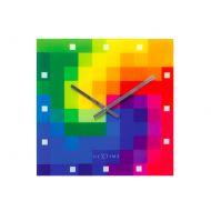 Zegar 43 x 43 cm Nextime Pixtime multikolor
