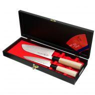 zestaw 2 noży: Uniwersalny 13cm + Santoku 16,5cm Tojiro Shippu
