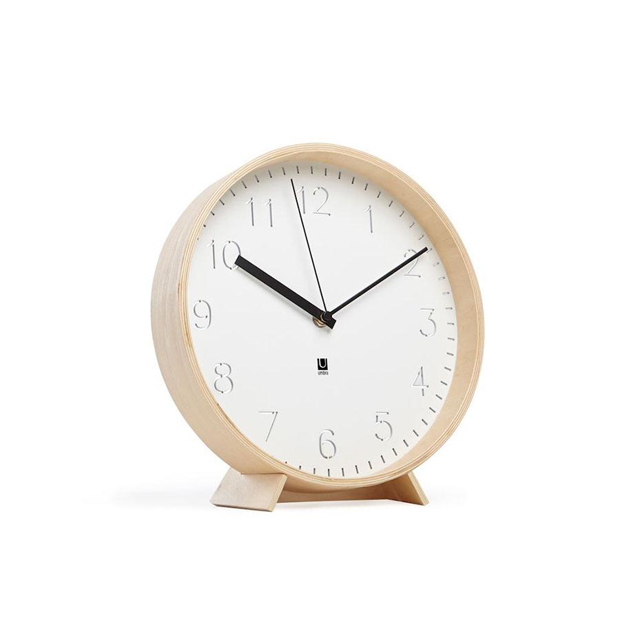 Zegar ścienny Rimwood Umbra drewniany biały