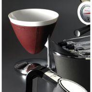 Waga elektroniczna w czerwonej skórze 22 x 24 cm Casa Bugatti UMA czerwona