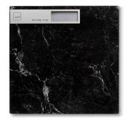 Waga łazienkowa 30x30 cm Kela czarna
