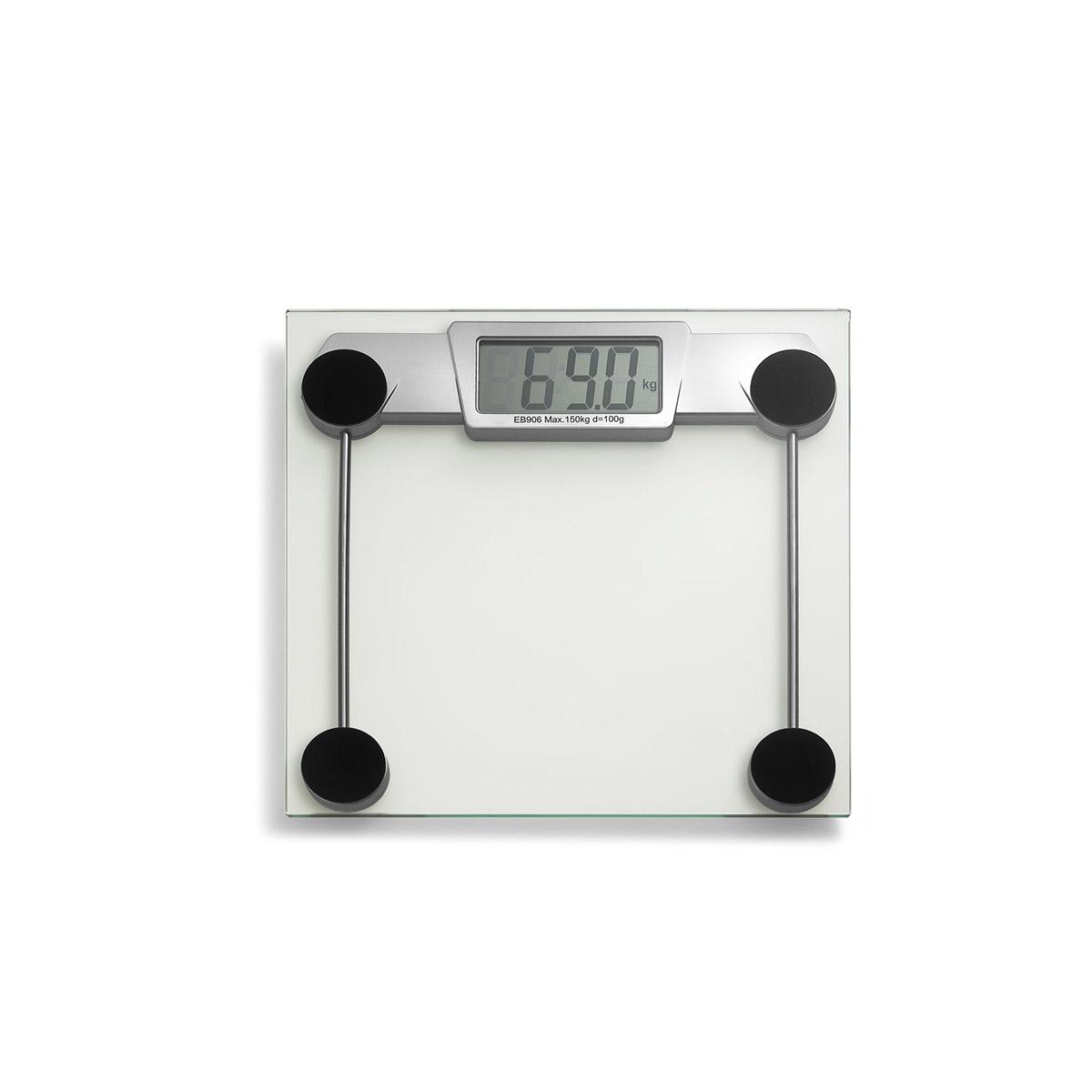 waga łazienkowa, do 150 kg, 30 x 30 cm, przezroczysta
