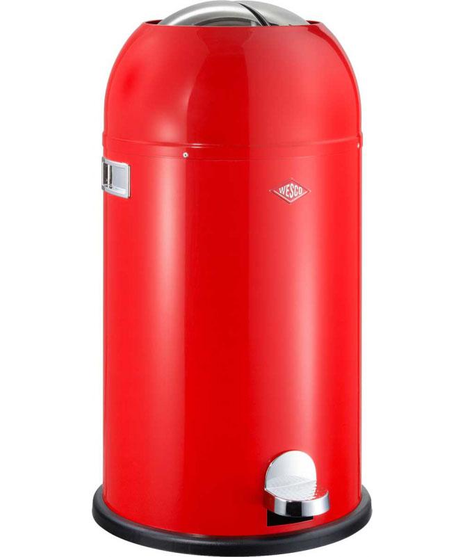Wesco - Kosz na śmieci czerwony 33l Kickmaster Wesco