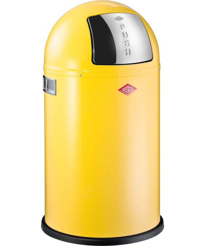 Wesco - Kosz na śmieci żółty 50l Pushboy Wesco