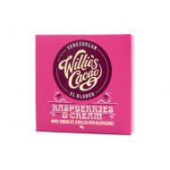 Czekolada 36% kakao malina i śmietanka 50g Willie's Cacao