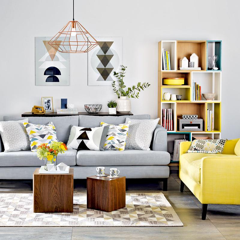 nowoczesne, modne wnętrze salonu