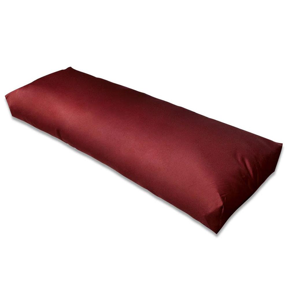 Wyściełana poduszka na oparcie, 120x40x10 cm, ciemnoczerwone