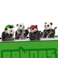 Zakładki do książek 4 szt. Pandas Rock Mustard pandy