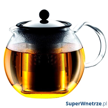 Zaparzacz tłokowy do herbaty 1,5 l BODUM Assam stalowy BD-1802-16