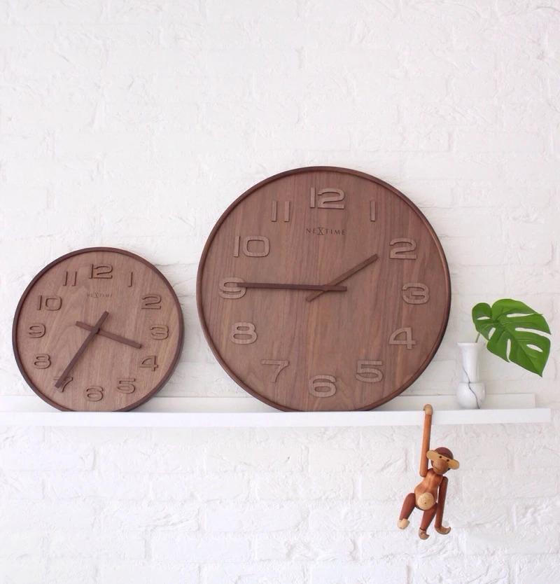 Duże zegary ścienne Nextime Wood Wood